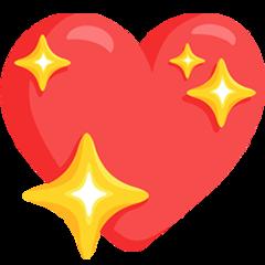 Sparkling Heart facebook messenger emoji