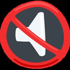 Speaker With Cancellation Stroke facebook messenger emoji