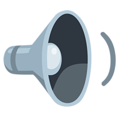 Speaker With One Sound Wave facebook messenger emoji