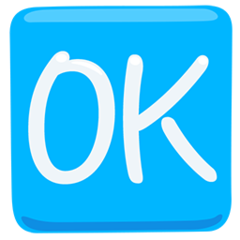 Squared Ok facebook messenger emoji
