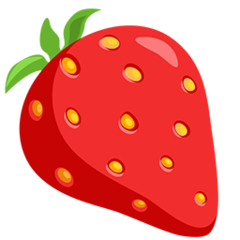 Strawberry facebook messenger emoji