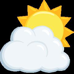 Sun Behind Cloud facebook messenger emoji