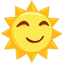 Sun With Face facebook messenger emoji
