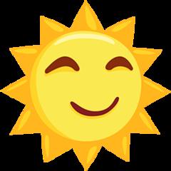 Sun With Face facebook messenger emoji