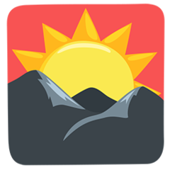Sunrise Over Mountains facebook messenger emoji