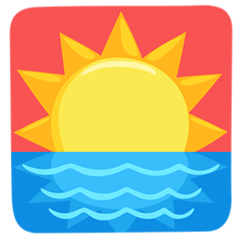 Sunrise facebook messenger emoji