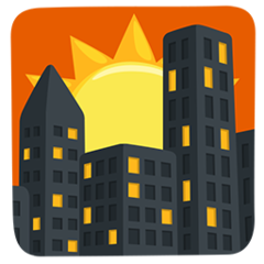 Sunset Over Buildings facebook messenger emoji