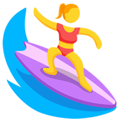 Surfer facebook messenger emoji