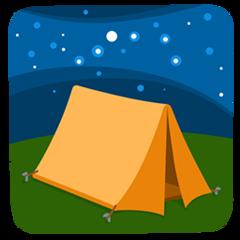 Tent facebook messenger emoji