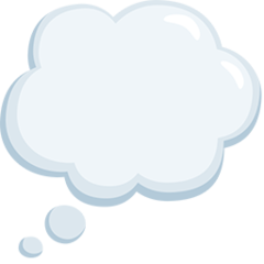 Thought Balloon facebook messenger emoji