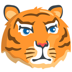 Tiger Face facebook messenger emoji
