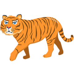 Tiger facebook messenger emoji