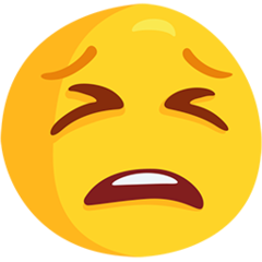 Tired Face facebook messenger emoji