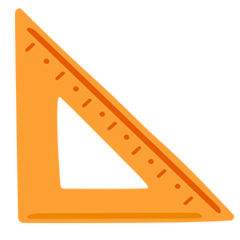 Triangular Ruler facebook messenger emoji