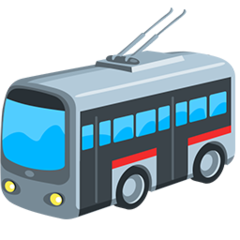 Trolleybus facebook messenger emoji