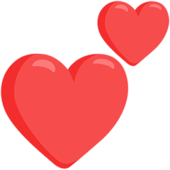 Two Hearts facebook messenger emoji