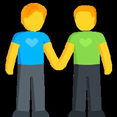 Two Men Holding Hands facebook messenger emoji