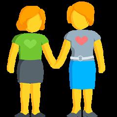 Two Women Holding Hands facebook messenger emoji