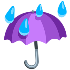 Umbrella With Rain Drops facebook messenger emoji