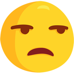Unamused Face facebook messenger emoji