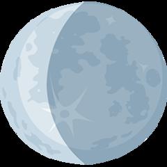 Waning Crescent Moon Symbol facebook messenger emoji
