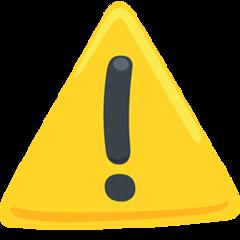 Warning Sign facebook messenger emoji