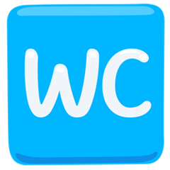 Water Closet facebook messenger emoji