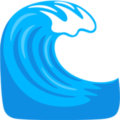 Water Wave facebook messenger emoji