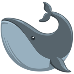 Whale facebook messenger emoji