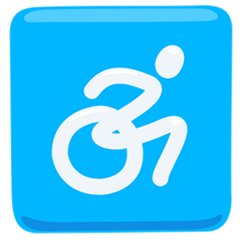 Wheelchair Symbol facebook messenger emoji