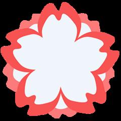 White Flower facebook messenger emoji
