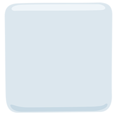 White Large Square facebook messenger emoji