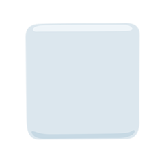 White Medium Square facebook messenger emoji