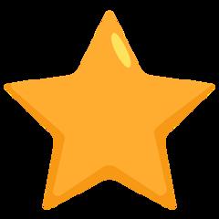 White Medium Star facebook messenger emoji