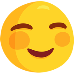 White Smiling Face facebook messenger emoji