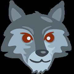 Wolf Face facebook messenger emoji