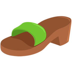 Womans Sandal facebook messenger emoji