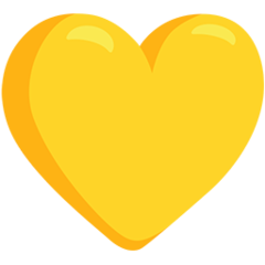 Yellow Heart facebook messenger emoji