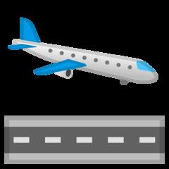 Airplane Arriving google emoji