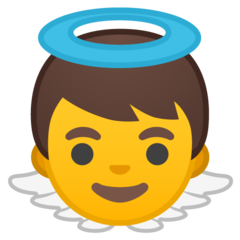 Baby Angel google emoji