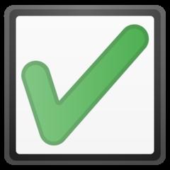 Ballot Box With Check google emoji