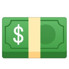 Banknote With Dollar Sign google emoji