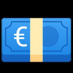 Banknote With Euro Sign google emoji