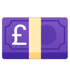Banknote With Pound Sign google emoji