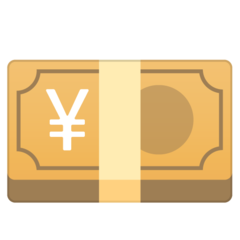 Banknote With Yen Sign google emoji