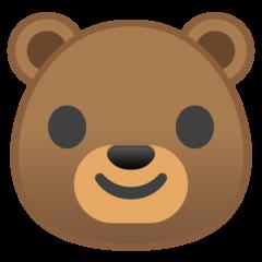 Bear Face google emoji