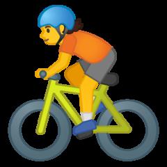 Bicyclist google emoji