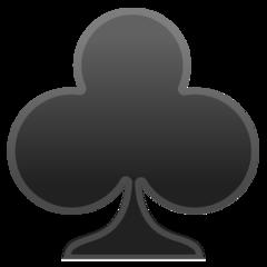 Black Club Suit google emoji