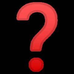 Black Question Mark Ornament google emoji