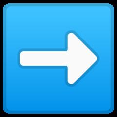 Black Rightwards Arrow google emoji